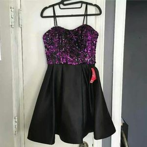 Betsy & Adam Purple Black Special Occasion Dress
